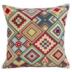 Aztec Geometric Tapestry Cushion