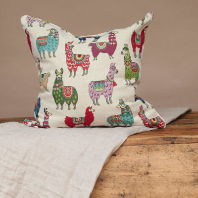Llama Tapestry Cushion