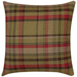 Tartan Check XL Cushion in Red and Green