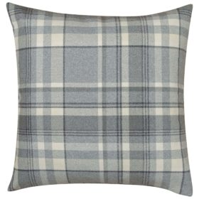 Tartan Check XL Cushion in Slate Grey
