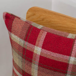 Tartan Check Cushion in Red
