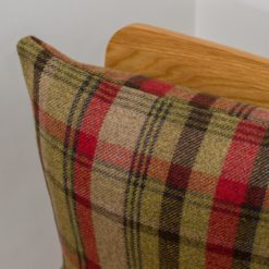 Tartan Check Cushion in Red and Green