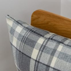 Tartan Check Cushion in Slate Grey