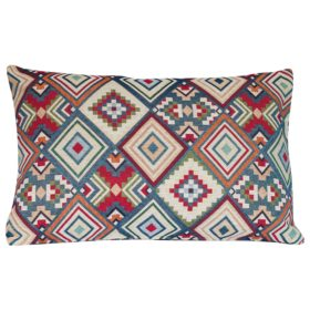 Aztec Geometric Tapestry XL Rectangular Cushion