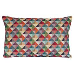 Triangle Harlequin Geometric Tapestry XL Rectangular Cushion