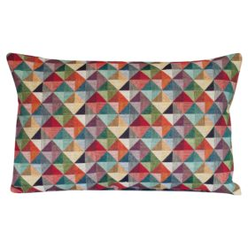 Triangle Harlequin Geometric Tapestry XL Rectangular Cushion