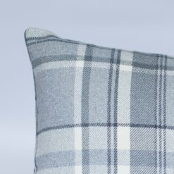 Tartan Check XL Rectangular Cushion in Slate Grey