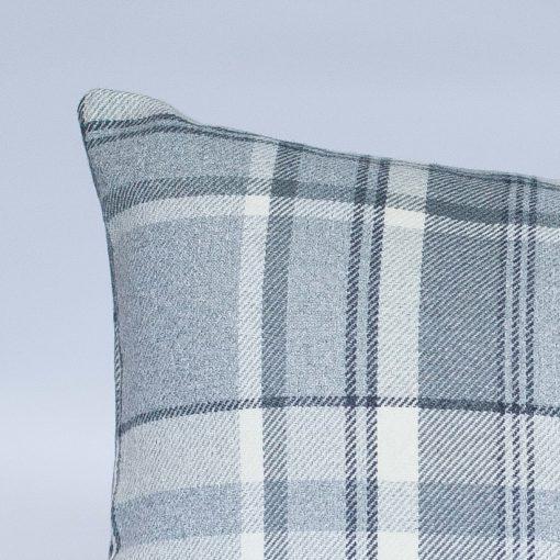 Tartan Check XL Rectangular Cushion in Slate Grey
