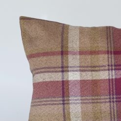 Tartan Check XL Rectangular Cushion in Heather