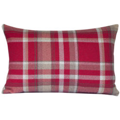 Tartan Check XL Rectangular Cushion in Red