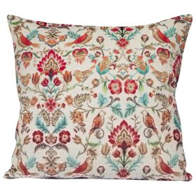 XL Morris Style Bird Garden Tapestry Cushion