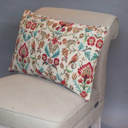 Morris Style Bird Garden Tapestry XL Rectangular Cushion
