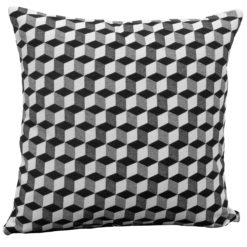 3D Monochrome Cube Cushion
