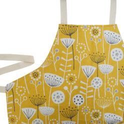 Geometric Scandi Floral Apron in Yellow
