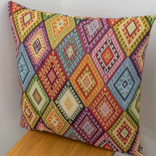 XL Kilim Weave Cushion Rainbow