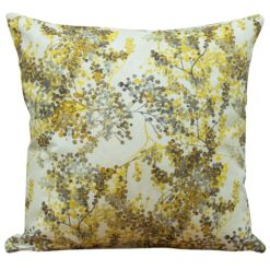 Abstract Ochre Blossom Cushion