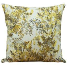Abstract Ochre Blossom Cushion