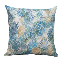 Abstract Pineapple Cushion in Blue and Green