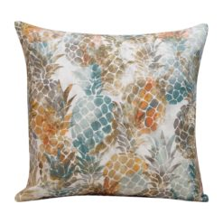 Abstract Pineapple Cushion in Terracotta