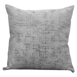 Abstract Semi Plain Textured Cushion in Silver