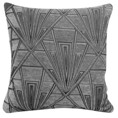 Art Deco Geometric Cushion Grey