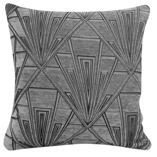Art Deco Geometric Cushion Grey