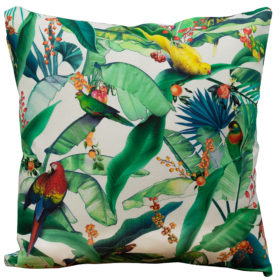 Tropical Birds of Paradise Cushion