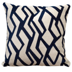 Abstract Geometric Cushion Blue on White