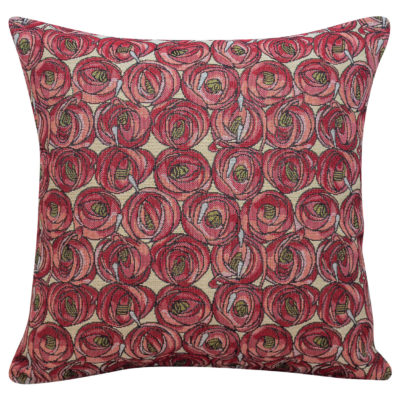 Cabbage Rose Tapestry Cushion