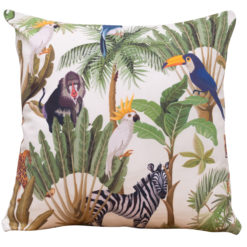 Cartoon Jungle Animals Cushion