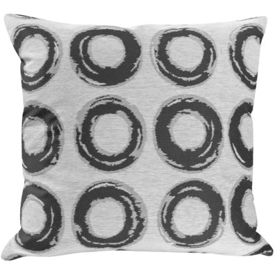 Charcoal Circle Geometry Cushion