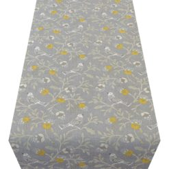 Dainty Songbird Table Runner in Grey