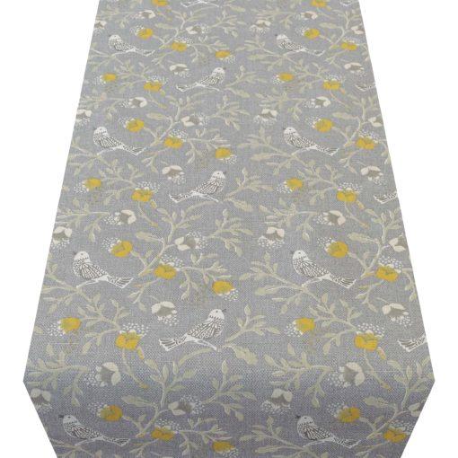 Dainty Songbird Table Runner in Grey