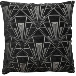 Extra Large Art Deco Geometric Cushion Black