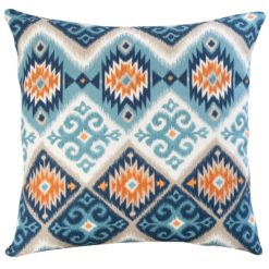 Extra Large Navajo Teal and Orange Cushion
