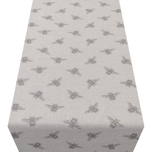 Grey Bumblebee Table Runner
