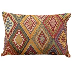 Kilim Weave Boudoir Cushion in Vintage