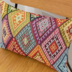 Kilim Weave Rainbow Boudoir Cushion