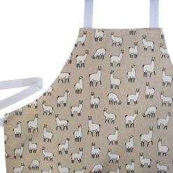 Linen Llamas Apron