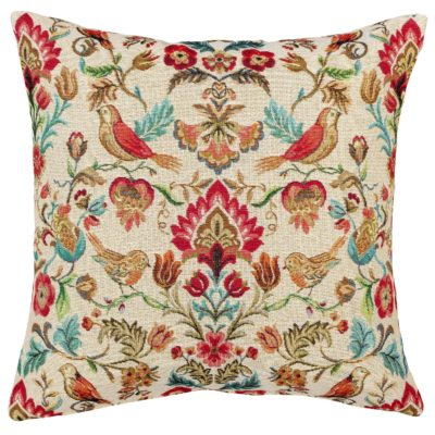 Morris Style Bird Garden Tapestry Cushion