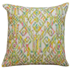 Moroccan Trellis Cushion in Chartreuse