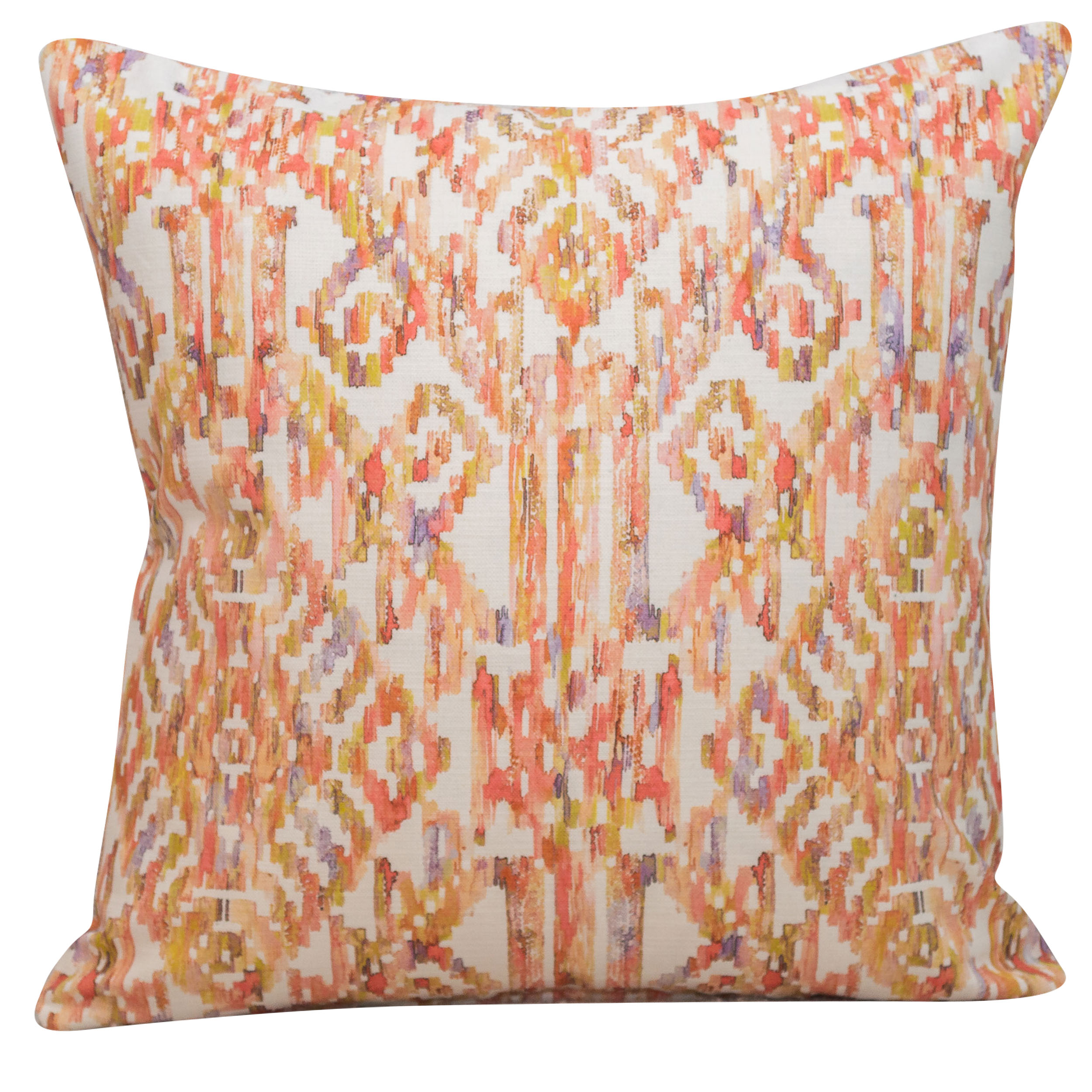 Moroccan Trellis Cushion in Coral