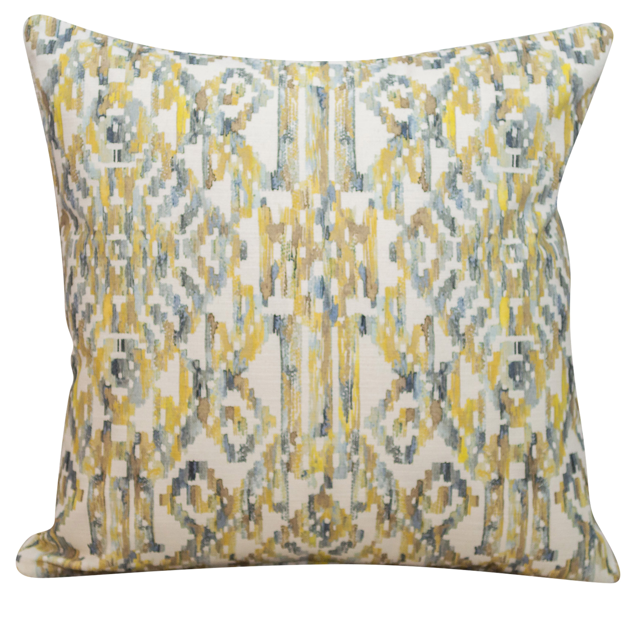 Moroccan Trellis Cushion in Ochre