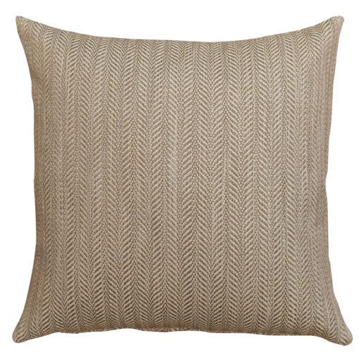 Chunky Cream Herringbone Linen Blend Cushion