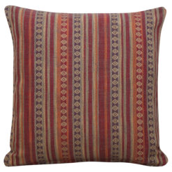 Navajo Blanket Cushion Burgundy