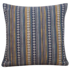Navajo Blanket Cushion Indigo