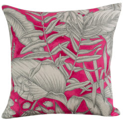 Neon Floral Cushion Pink