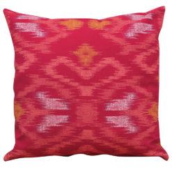 Neon Ikat Cushion in Pink