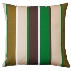 Outdoor Stripe Cushion Green