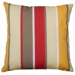 Outdoor Stripe Cushion Red Sand